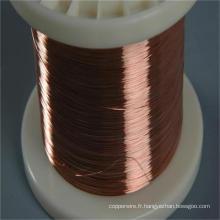 Fil d'aluminium plaqué de cuivre de câble d'acier CCA