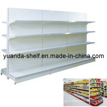 Metallic Supermarket Plain Panel Display Retail Shelf