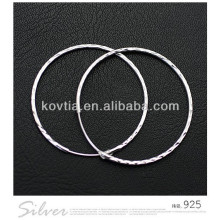 China hottest large 925 sterling silver hoop earrings