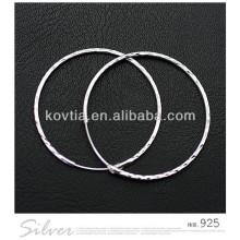 China mais quente grandes 925 brincos de prata esterlina hoop