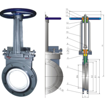 Manual ceramic knife gate valve