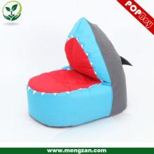 Акула форма игра beanbag сиденье, бобовый мешок стул для ребенка