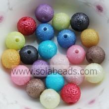 Xmas Decoration 6mm Plastic Round Gemstone Imitation Swarovski Beads