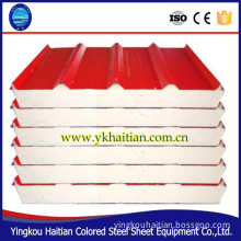 High quality color steel sandwich panel wall plate, cold plate, purification plate