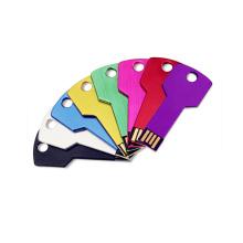 Key Shape USB Flash Drive verschiedene Farbe kostenlos angepasst Logo