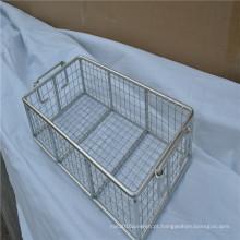 Cesta de engranzamento de fio de aço inoxidável barato / cesta de esterilização médica técnica perfurada
