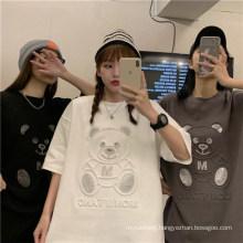 Girlfriend Bear Short-Sleeved Female Ins Tide Harajuku Style T-Shirt