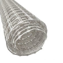 White color 30 kN high strength coal mining supporting/protecting plastic mesh biaxial geogrid