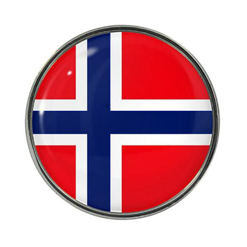 Norway Flag Design Pin Badge