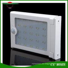 Intelligentes Bewegungs-Sensor-Aluminium 25LED Waterproof Solarwand-Licht mit super heller LED-Lampe