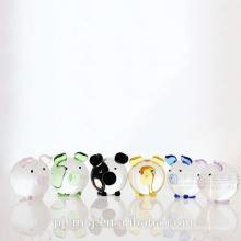 glückliche Schwein geformte Glasflasche