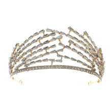 Crown Tiara Wedding Bride Hairband Luxury Hair Accessories Rhinestone Headband Designer Alloy for Women Girls Feast Photo Studio