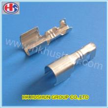 Fabrication d'un terminal d'estampage métallique de précision (HS-DZ-0083)