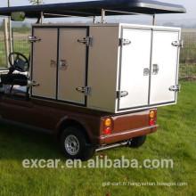 1-2 chariots de golf électriques de type de carburant électrique de type avec la cargaison adaptée aux besoins du client de nourriture
