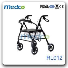 Im Freiengebrauch Aluminium Rollator heiße Verkaufsart RL012