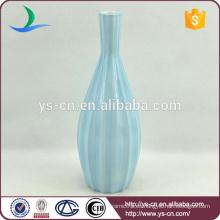 Luz azul tallada jarrones de diseño antiguo chino