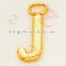 """Буква- """"J"""" съемник / ползунок на молнии (G8-156A)"""