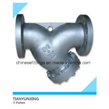 A216wcb Литые углеродистые стальные фланцевые Y-образные фильтры