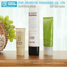 diamètre 40mm et 50mm beau tube de plastique emballage pour cosmétique crème faciale pour le pe ovale spéciale oblongue bouchon à vis