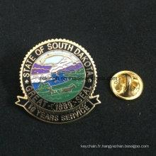 La sécurité en métal Pin Back Publicité Promotions Étain Button Badge en gros