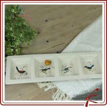 China Fábrica de cerâmica porcelana barato Dinner Set Tableware Bandeja Placa
