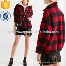 Ropa de las mujeres de la moda al por mayor de la ropa de la fabricación de la chaqueta de lana cepillada controlada (TA3006C)