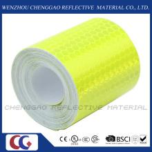 PVC en forma de panal tipo cinta Safery reflectante fluorescente para el tráfico (C3500-de)