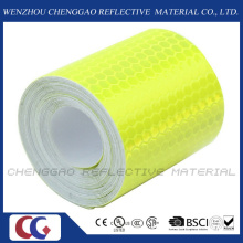 PVC Honeycomb Type Fluorescent Reflective Safery Tape for Traffic (C3500-OF)