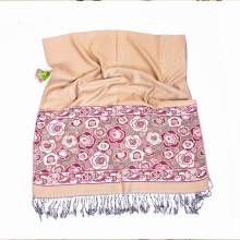 Moda viscose cachecol xale xale preto morno quente acrílico jacquard lenço xale