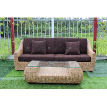 Popular Classic Style Water Hyacinth Living Sofa set for Indoor Home Furniture