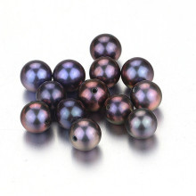 Snh Peacock Color Natural Freshwater Loose Pearl Beads