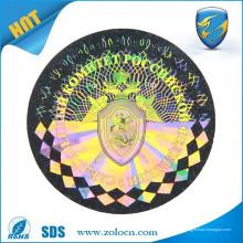 Faire des autocollants en feuille holographique / autocollants hologramme logo / étiquettes de sécurité holographiques
