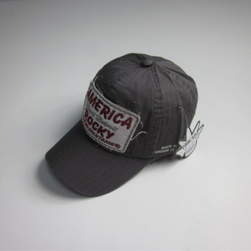 High Quality Washed Cotton Patch Sports Cap