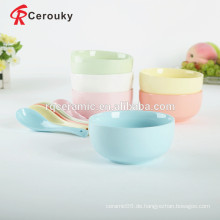 Shiny Oberfläche Salat Schüssel Keramik Suppe Schüssel