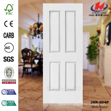 JHK-004P Mordern Design Texture de grain de bois Decorative White Primer Door Skin Best Make