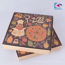 Boîte d'emballage de pizza imprimée avec logo