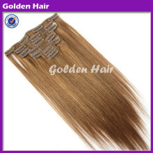 Unprocessed Natural Color Silky Straight Single Color Hair Extension Clip In