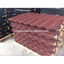 Matériau de construction en couleur Aluminium Zinc Stone Coated Metal Steel Toiture Sheet For Sale