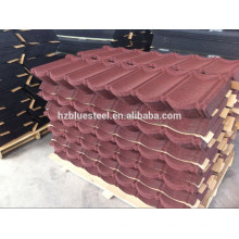 Colored Building Material Aluminum Zinc Stone Coated Metal Steel Roofing Sheet For Sale