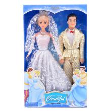 11 Zoll Mädchen gefallen Kunststoff Prinzessin und Prinz Puppe (10241463)