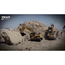 DWI Dowellin 23 channel full metal huina 580 excavator toys rc truck for kids
