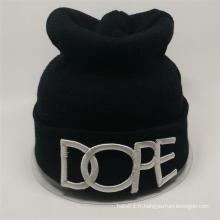 Chapeau en tricot personnalisé tricoté en gomme en caoutchouc avec haute qualité