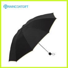 Cheap Promotional Black 3 Fold Umbrella