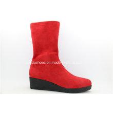 Últimas botas de color rojo brillante de moda para mujer sexy
