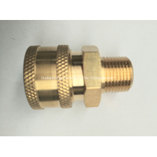 "Pressure Washer 1/4"" Male NPT-M Quick Connect Brass Coupler 5000 PSI"
