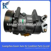 Sanden SD6V12 peugeot 307 peugeot 206 compresor de aire acondicionado OE # SD1439 SD1438 SD1430 6453FR 6453LF 9646273880