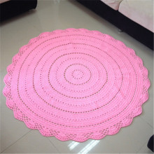 Crochet cotton rugs and blanket hand knitted round rugs