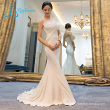 Organza Strapless Sleeveless Empire Waistline Wedding Dress Mermaid
