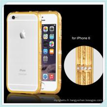 Cas de pare-chocs en métal de luxe pour la couverture iPhone6