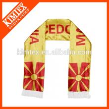 2014 Forme la bufanda de encargo del equipo de fútbol de los fans del poliéster